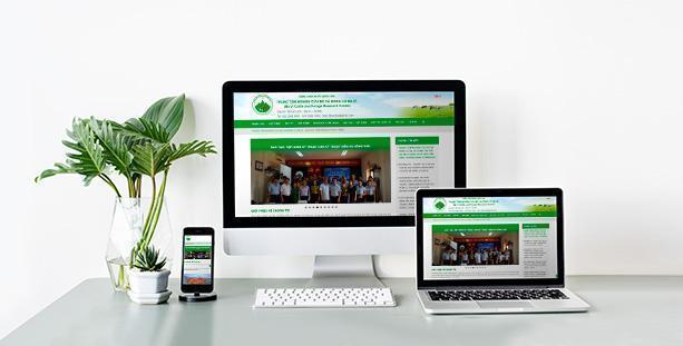 Website Trung tâm nghiên cứu Bò và Đồng cỏ Ba vì