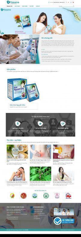 Website Công ty Cổ phần Y Dược YO SANA