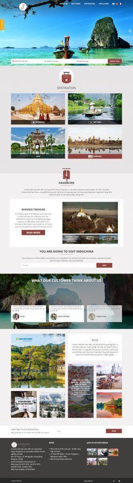 Website Du lịch Sixsenses-travel
