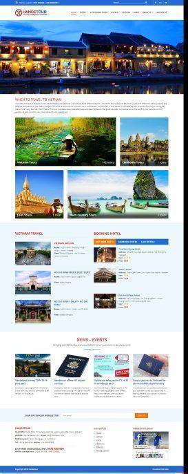 Website Du lịch Handetour