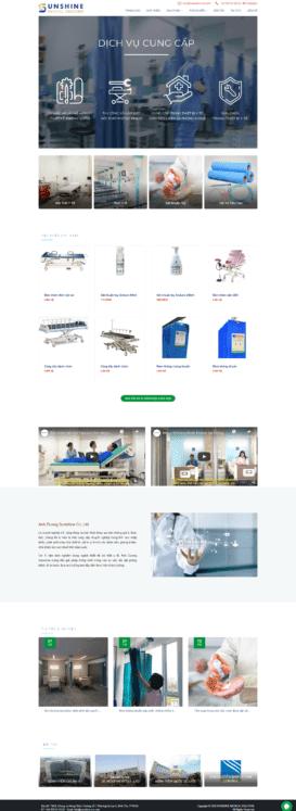 Website Thiết bị y tế Ánh Dương