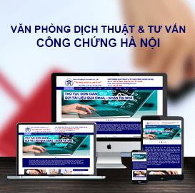 Website Công chứng & Dịch thuật Chuyên nghiệp Hà Nội