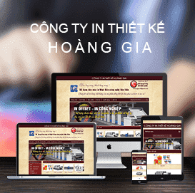 Website Công ty In Thiết kế Hoàng Gia
