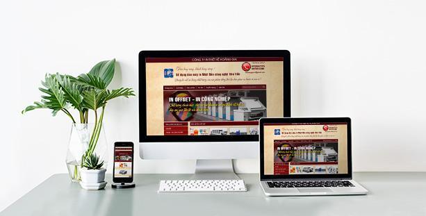 Website Công ty In Thiết kế Hoàng Gia