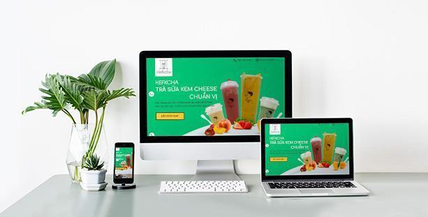 Website Trà sữa Hefkcha