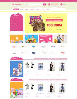Website THỜI TRANG TRẺ EM