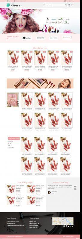 Mẫu website mỹ phẩm