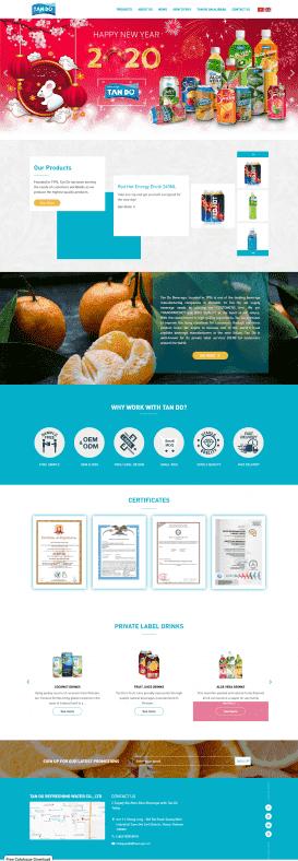 Website Công ty thực phẩm Tân Đô