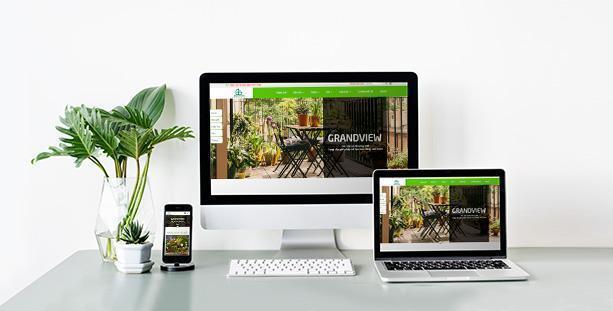 Website sân vườn Grandview