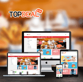 Mẫu website Topdeal