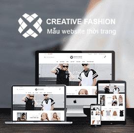 Mẫu web thời trang Creative Fashion