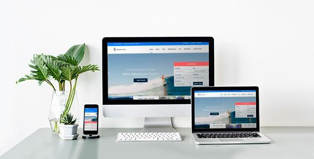 Mẫu website Travel
