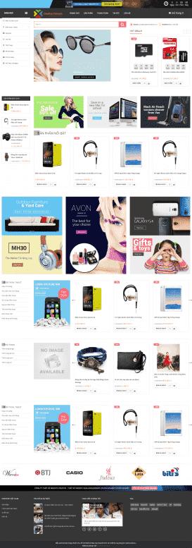 Mẫu website bán hàng pro
