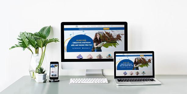 Mẫu website du học pro