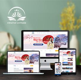 Mẫu website du học