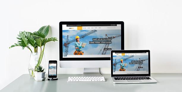 Mẫu website xây dựng