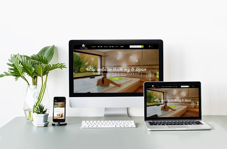 Mẫu Website Spa